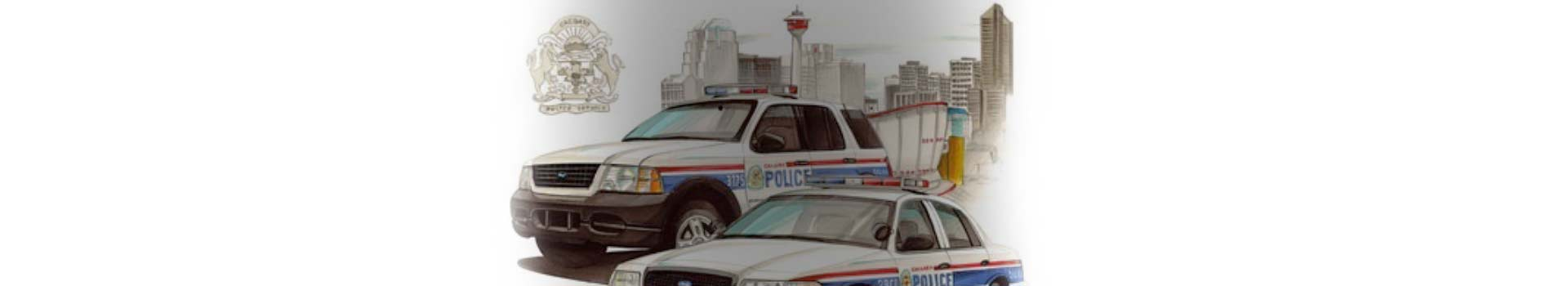 Calgary police vehicles