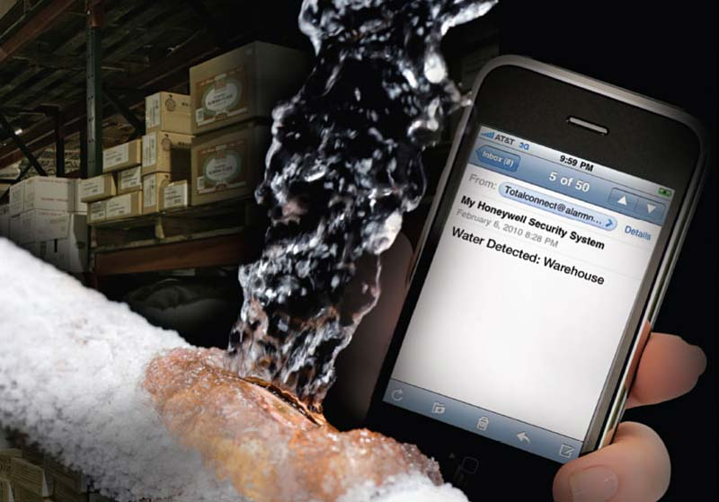 frozen pipe notification